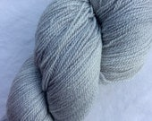 New Line - Shawl Length Skeins 875 yds Light Silver Grey semi-solid, Hand dyed 70/25/5 SW Merino Silk Stellina, DFW Yarn Crawl Sponsor