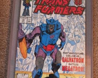 Marvel Comics May 78 Transformers Galvatron Battles Megatron Comic Book