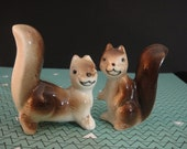 Smiling Squirrel Salt & Pepper Shakers
