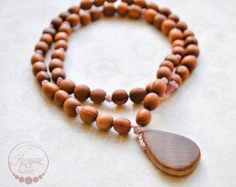 Oak Wood Mala Nursing Necklace / Teething Necklace for Mom to wear / Mom Necklaces / Breastfeeding and Babywearing Accessories