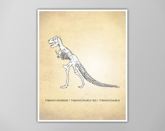 Tyrannosaurus Rex Dinosaur Art Print, T-Rex Natural History Poster, Natural History Dinosaur Print, Dinosaur Tyrannosaurus Rex, T-Rex Print