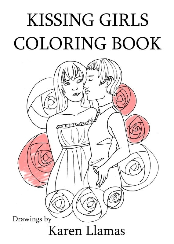 Kissing Girls Coloring Book PDF queer anime manga lgbt