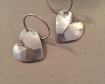 Sterling Silver Broken Heart Earring