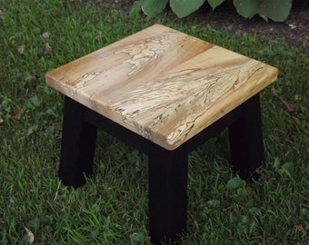 """Spalt maple riser foot stool step stool bed stool Limited edition 8"""" - 10"""" h"""