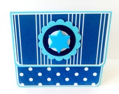 Hanukkah Gift Card Holder, Gift Card Envelope, Gift Card Box, Money Holder- Polka Dots and Stripes