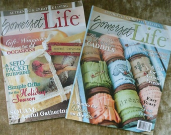 Lot Of Two Back Issues Of Somerset Life Magazine Full Of Crafting Ideas - Great Condition