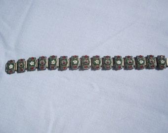 Vintage Italian Micro Mosaic Link Bracelet