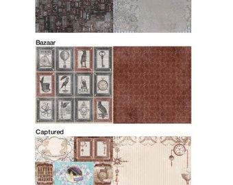 "BoBunny's ""Penny Emporium"" Collection Set of 12x12 Papers"