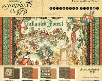 """NEW!! Graphic 45 """"Enchanted Forest"""" 12x12 Paper Pad PRE-ORDER"""