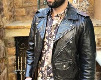 MINT Extremely RARE Gorgeous 60s Biker Jacket Jacket Slim Large