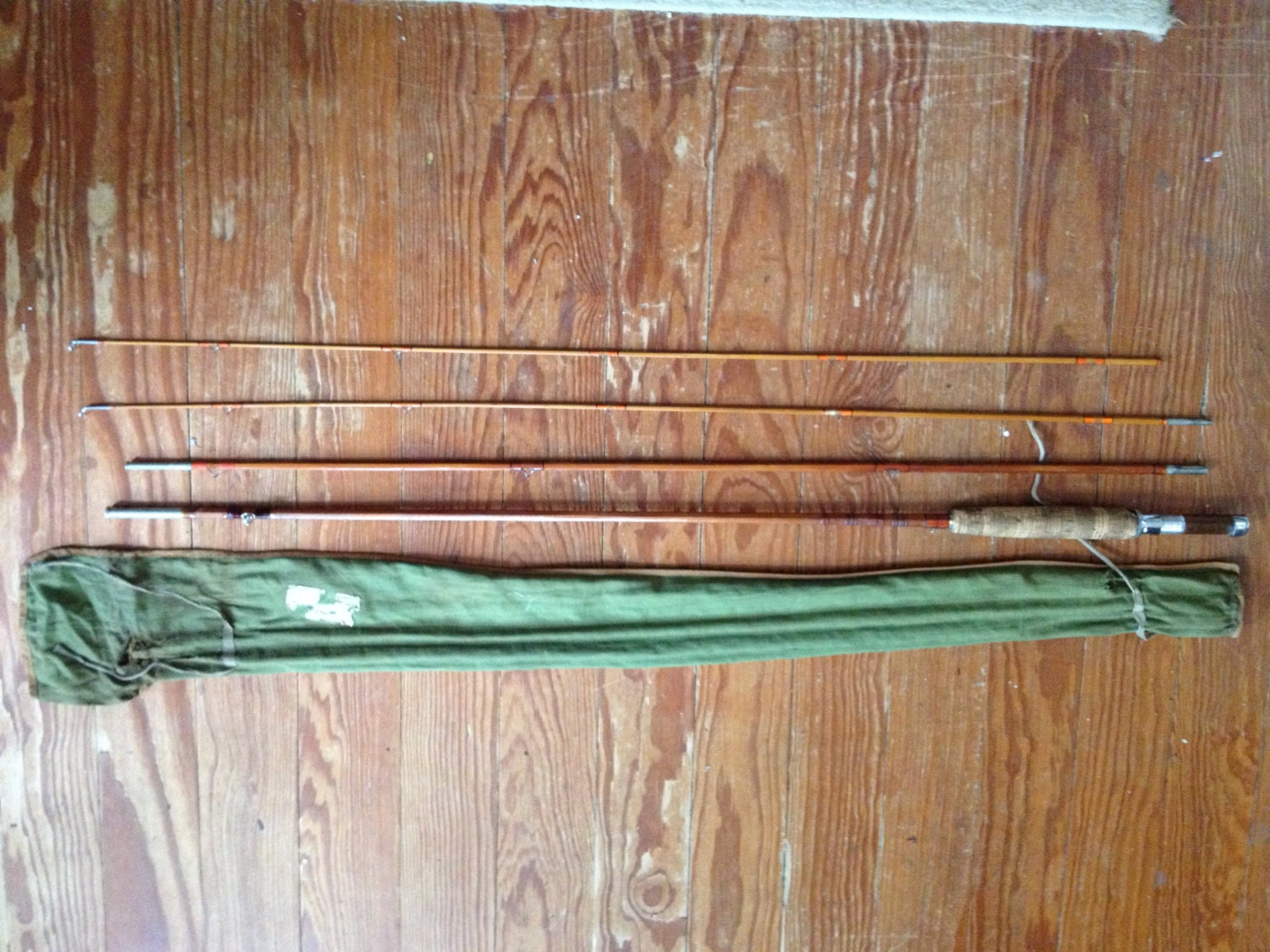 Split bamboo fly fishing pole made in usa for Bamboo fishing poles