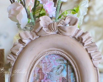 3 Pretty Ornate Shabby Chic Picture FRAMES W/BOWS, Annie Sloan, French, Antoinette