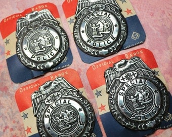 1 Vintage Tin Special Police Badge