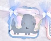 Elephant baby shower, gender reveal, gender neutral banner, photo prop, pink, blue and gray chevron