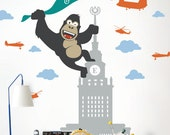 kong on skyscraper Wall Decal - Kids and Nursery Wall Decor