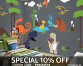 Dinosaur Wall Decals Playroom Wall Decals - Kids & Nursery Wall Décor