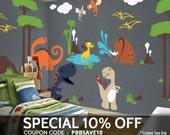 Dinosaur Wall Decals Playroom Wall Decals - Kids & Nursery Wall Décor
