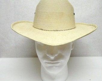 Straw Cowboy Hat Wide Brimmed Hat Sun Western Natural