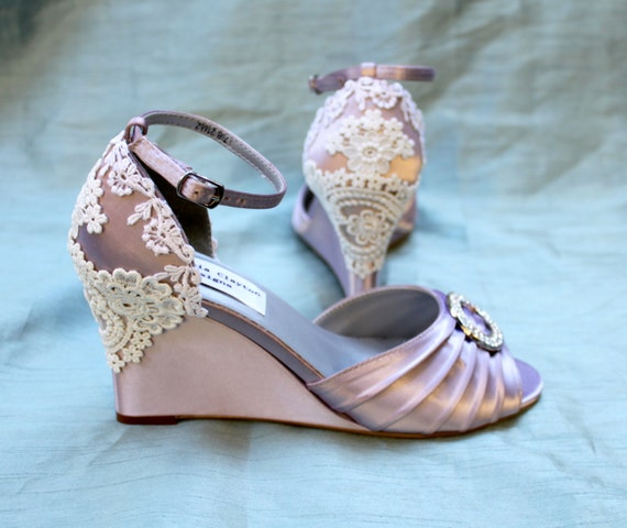 items similar to wedding shoes wedges lace wedges