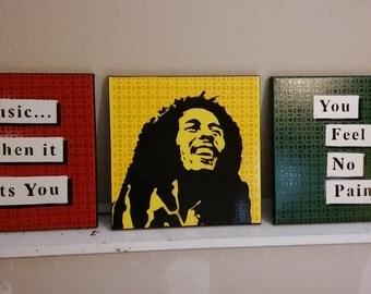 Bob Marley Rasta flag (3 piece)