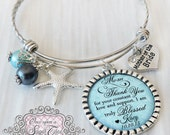BEACH WEDDING- Beach Jewelry- Mother of the Bride Bracelet - Beach Bridal Jewelry - Gift from Bride - Wedding Gifts for Mother in law