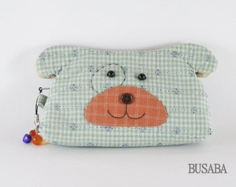 Dog Purse, Handmade coin purse - Dog - Ready to Ship