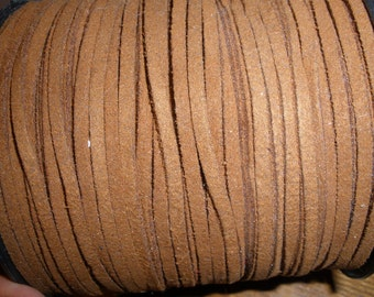 Wholesale Spool 3mm Faux Suede Cord Chamude String Brown 100 yds for bracelets necklace crafts 3MMx1MM Item LT K016-M. Brown Eco Boho