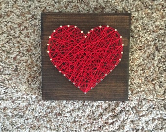 Ready to ship heart string art
