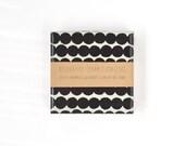 Ceramic Coasters Marimekko Rasymatto Pattern Black Dots Graphical Modern Coasters