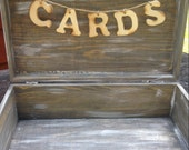 Wooden Card Box Sign Cards Banner