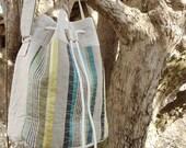 Bucket Bag with String, Trendy Shoulder Bag, Summer Beach Bag, Weekend Purse for Girl, Gift for Her