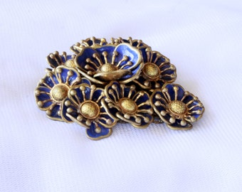 Vintage Dress Clip Layered Flower Design FREE SHIPPING