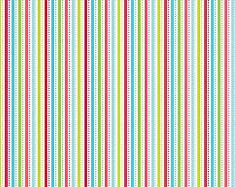 Riley Blake Christmas fabric SANTA EXPRESS fabric!   C4727  santa , santa stripe MuLTI, holiday fabric,  Riley Blake, Doodlebug Designs