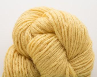 Recycled Bulky Wool, Custard Yellow, Bulky Weight Wool, 237 Yards