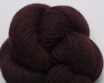 Clove Brown Recycled Lace Weight Cashmere Yarn, CSH00072
