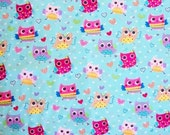 Owl Fabric By The Yard Hi-Fashion Fabrics Collection Sewing Crafting Fabric
