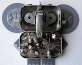 Hanging Bot - Elephant - Hanging Decor - Wall Decor - Found Object Assemblage by Jen Hardwick