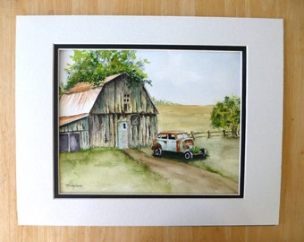Original Watercolor - Home Sweet Home - 8X10 inch Painting