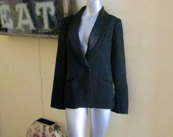 Lilli Ann Tuxedo Jacket Women Size 12 / Vintage Designer Adolph Schuman