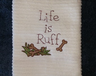 Sweet Little Embroidered Kitchen Towel