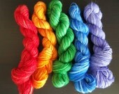 MegaMini skeins for sock blankies and bee keepers quilt 80 yard minimum Type V
