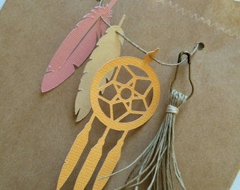 Boho Dream Catcher and Feather Baby Shower Gift Bags