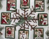 Santas & Snowmen Book No. 151 : counted cross stitch patterns Prairie Schooler December Winter Christmas holidays Santa Claus