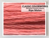 RIPE MELON : Classic Colorworks 6- strand embroidery floss hand over dyed overdyed thread formerly Crescent Colours cross stitch