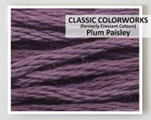 PLUM PAISLEY : Classic Colorworks 6- strand embroidery floss hand over dyed overdyed thread formerly Crescent Colours cross stitch