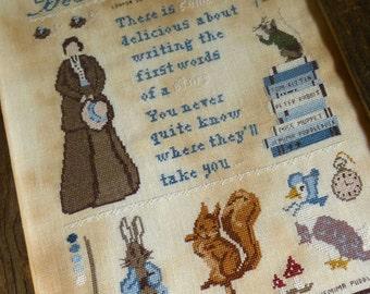 Beatrix Potter : The Primitive Hare Isabella Abbiati counted cross stitch patterns the cottage needle
