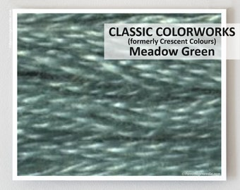 MEADOW GREEN  : Classic Colorworks hand-dyed embroidery floss cross stitch thread at thecottageneedle.com