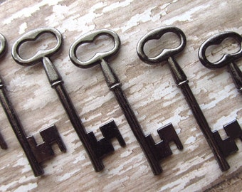 Alvor Black/Gunmetal Skeleton Key - Set of 10