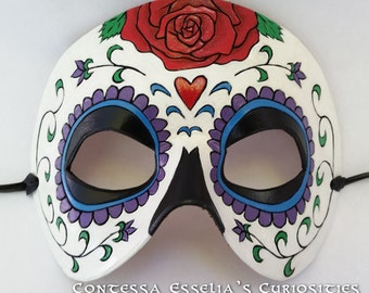 Day of the Dead / Dias de los Muertos Leather Mask - Made to Order