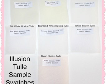 Illusion Tulle Sample Swatchs - Bridal Veiling -